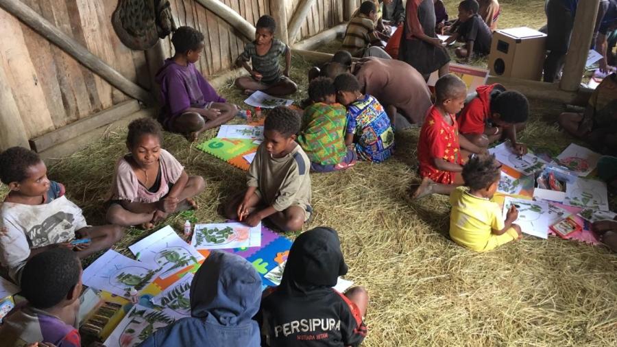 Foto anak-anak kosarek belajar Agustus 2019